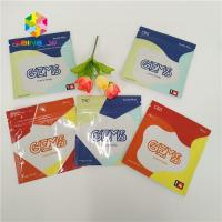 China Recyclable Herbal Incense Packaging Plastic Bags 3 Side Sealed Custom With Zipper wholesale