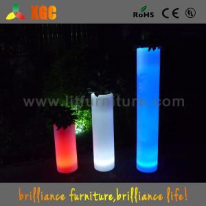 China Polyethylene LED Plant Pots / Led Flower Pots With 16 Colors Changeable wholesale