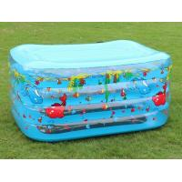 China Rectangle Inflatable Swimming Pools Four Layer For Kids Playing wholesale