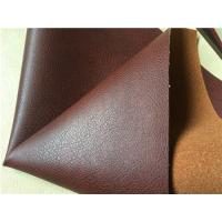 China Pu Coated Embossed Stretch Leather Fabric With 30% Leather Composition wholesale