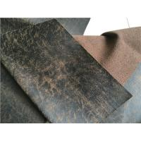 China 139 cm Width Sofa Cowhide Bonded Leather Fabric Eco - Friendly Waterproof wholesale
