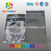 Quality Three Side Seal Front Transparent Back Foil Anti Static Bag With Zipper And Tear for sale