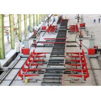 China Roller Conveyor Heavy Duty Production Line , 2.5 T/m Loading Transfoming H Beam Line on sale