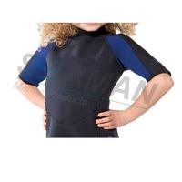 China Premium Neoprene 2mm Kids Shorty Wetsuit Laminated With Nylon Jersey Double Side wholesale