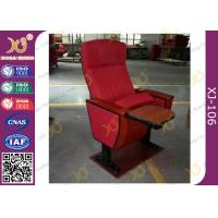China Mounted Floor Walnut Wood Colour Fabric Public School Auditorium Chairs wholesale