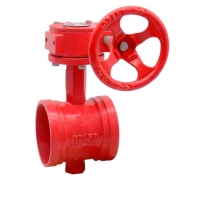 China Rubber Seated DN1200 150Lbs Grooved Ends Ductile Iron Butterfly Valves on sale