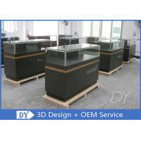 8MM Glass Thickness Store Jewelry Display Cases / Dark Gray Jewellery Counter Display