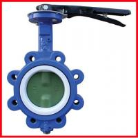 Quality High Temperature Butterfly Valves 3 Way Ductile Iron / Stainless Steel for sale