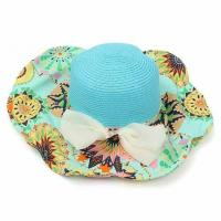 China Paper Material Cowboy Vacation Beach Sun Hats Custom Logo With Nylon Strip wholesale