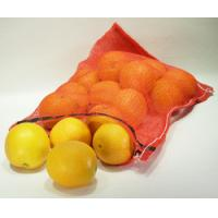 China Orange , Apple Fruit PP Woven Mesh Bags Sacks Recyclable , Red Color wholesale