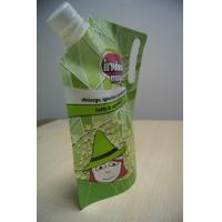 Quality Green Drink Spout Pouch Packaging Die Cut Handle for LIquid Packaging for sale