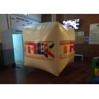 China Full Printing Inflatable Cube Swim Buoy For Water Event , Floating Water Marker Buoy Inflatable Square Swim Buoy wholesale