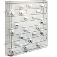 Quality acrylic golf ball display case large plexiglass display cabinet for golf ball wholesale display case for sale