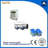 China Wall Mounted Clamp On Type Ultrasonic Flowmeter/Fixed Ultrasonic Flow Meter with reasonabl wholesale