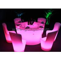 China Red Green Blue Plastic Lighted LED Portable Chairs for Events and Banquet wholesale