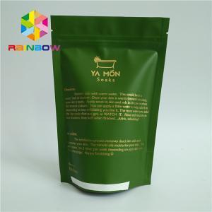 China Aluminum Foil Lined Matt White Green Tea Packaging Bag With Zipper Custom Design wholesale