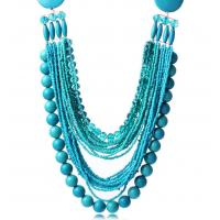 China Retro fashion bohemian handmade beads multi-chain necklace clavicle wholesale