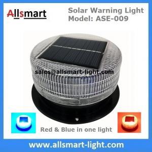 China 6LED Red & Blue Solar Powered Signal Bridge Flash Warning Light Sensitive Car Vehicle Magnetic Mounted LED Caution Lamp wholesale