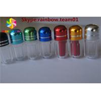 Quality Plastic container capsule Blue/Gold/Red/Silver empty rhino pill bullet shaped for sale
