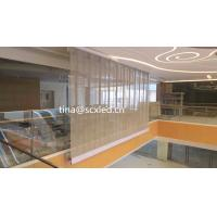 China Full Color P10.42mm Led Transparent Video Glass Wall Screen Over Than 4200 Brightness wholesale
