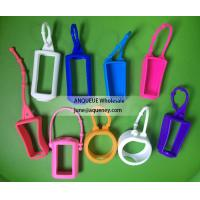 China NEW shape silicone hand sanitizer holder, hand sanitizer case wholesale