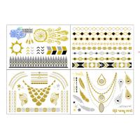 China Professional Gold Foil Body Art Stickers Tattoos For Summer wholesale