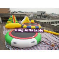 China Heat Sealing Blow Up PVC Water Combine Toys /  Tower Slide Iceberg Trampoline And Water Blob wholesale