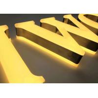 China 3D Brushed Stainless Steel Channel Letter Signs Hand Crafted Beauty Front / Halo Lit wholesale