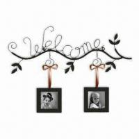 Buy cheap Wall Art with Letter Decor and Photos, Various Colors are Available, Customized from wholesalers