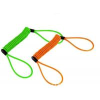 Colorful anti-drop spring steel spiral lanyard w/ big loop ends to protect valuable tools
