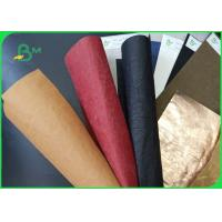 China Resistance To Wear And Tear Soft Wasnable Kraft Paper For Bag on sale