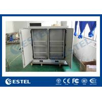 China Two Bay Stainless Steel Temperature Control Outdoor Battery Cabinet With Anti-smoke Anti-corrosion Powder Coating wholesale
