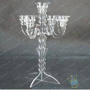 China CH (8) wholesale mercury Acrylic candle holders wholesale
