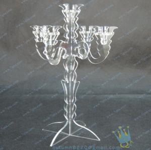 China Plastic Christmas Acrylic Candle Holder wholesale