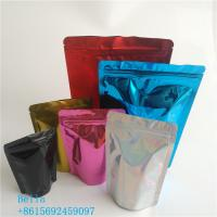 China Holographic Packaging Stand Up Zipper Pouch Bags Customization Printed For Clothing wholesale