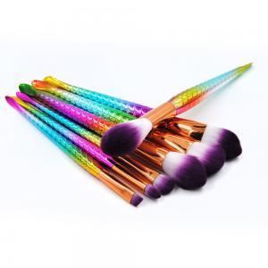 China Professional Makeup Brush Set, Cosmetic Brush Set, 7 Pcs Mermaid Makeup Brushes wholesale