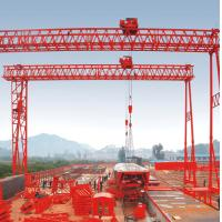 Buy cheap 40t Fast lifting Truss Double Girder Gantry Crane for Precast yard from wholesalers
