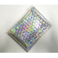 China Customized Holographic Bubble Mailers Shiny Color With Ziplock Closure Recyclable on sale