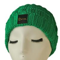 China High quality unisex customize logo green winter knitted  hats caps for fashion wholesale