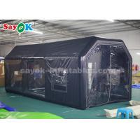 China Portable Black 6*3*2.5m Inflatable Spray Booth for Car Maintenance wholesale
