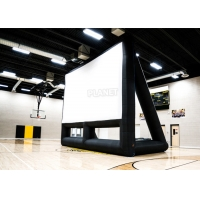 China Commercial 210D Inflatable Projector Movie Screen With Blower wholesale