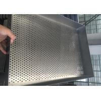 Baking Filter Stainless Steel Wire Mesh Trays , Square Mesh Metal Tray