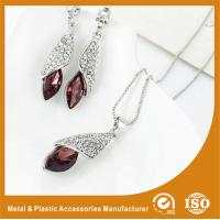 China Customized Jewelry Silver Plated Two-Piece Zinc Alloy Jewelry Sets With Synthetic CZ wholesale