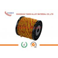 China Type K Thermocouple Extension Wire 24 Awg Red And Yellow Wire For Cable wholesale