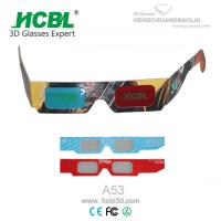 Black Frame Customized Folding Paper 3d Glasses Red Blue With Full Logo Color