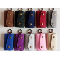 China Accept OEM 43 Colors Felt Key Wallet Business Gifts Key Holder with 6 Hooks on sale