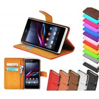 China Leather Wallet Stand Sony Ericsson Phone Case With Photo Slot ,  Xperia z1 Cover wholesale