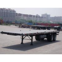 China 20ft 40ft shipping flatbed container transport semi trailer flatbed truck trailer prices 2 axle flatbed trailers with co wholesale