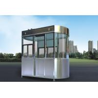 China Stainless Steel Security Guard Booths , Park Security Guard Shack wholesale