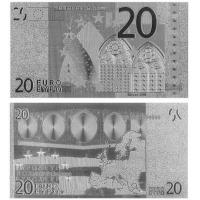 China Bill and Currency Silver Foil Banknote Euro 20 Souvenir wholesale